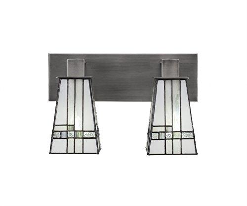 Toltec Lighting Apollo 2 Light Bath Bar Square New Deco Tiffany -