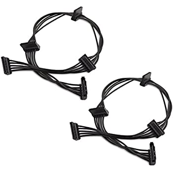 Amazon Com Cable Matters 2 Pack 15 Pin Sata To 4 Sata Power