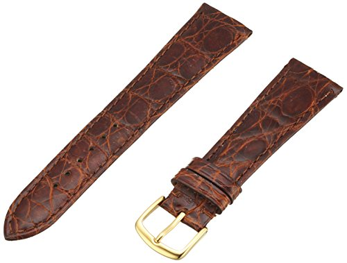 - Hadley-Roma Men's MSM822RN-200 20-mm Chestnut Genuine Caiman Crocodile Leather Watch Strap
