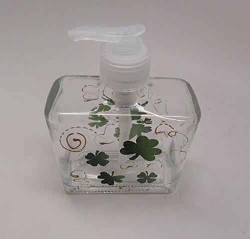 Hand painted St. Patrick's Day Soap or Lotion Dispenser with Clovers and - Usps Business Days