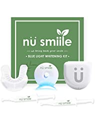 Nu Smiile Blue Light Teeth Whitening Syringe Kit, 9 Key Ingredients, Enamel Safe, 0.4 Fluid Ounce