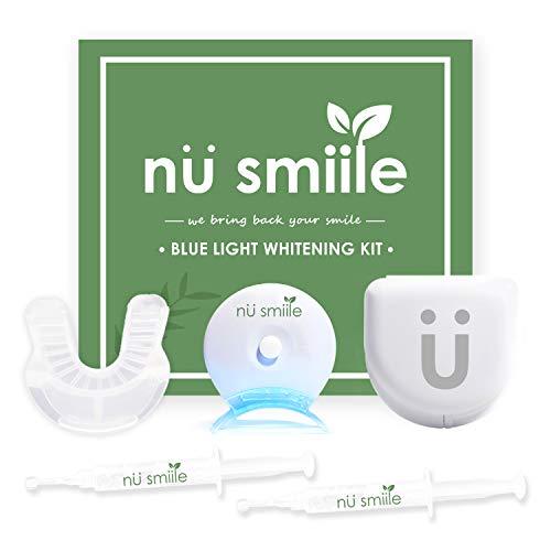 Nu Smiile Blue Light Teeth Whitening Syringe Kit, 9 Key Ingredients, Enamel Safe, 0.4 Fluid Ounce