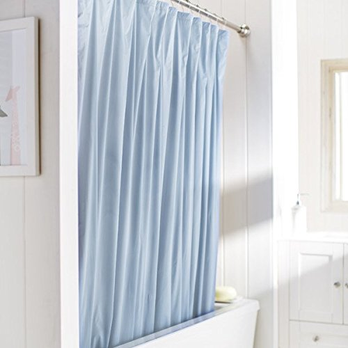 United Linens 10 Gauge Heavy Duty Shower Curtain Liner Blue 70x72 Peva Mildew Free