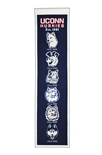 NCAA Connecticut Huskies Heritage Banner Connecticut Huskies Ncaa Applique