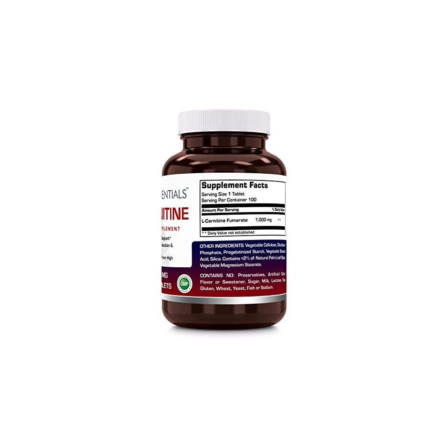 Vita Essentials L carnitine 1000 Mg Tablets, 100 Count
