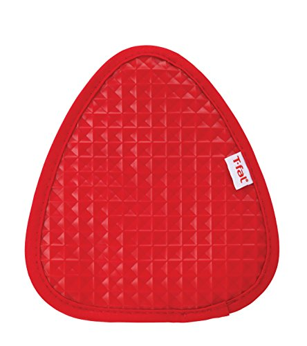 T-fal Textiles Silicone Waffle Softflex Non-Slip Grip 100% Cotton Twill Heat Resistant Pot Holder, 8.25-inches x 7.5-inches, Red by T-fal Textiles