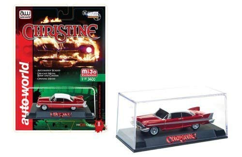- 1958 Plymouth Fury Christine Red Chrome Limited Edition to 3600 pieces Worldwide 1/64 Diecast Model Car by Autoworld CP7494