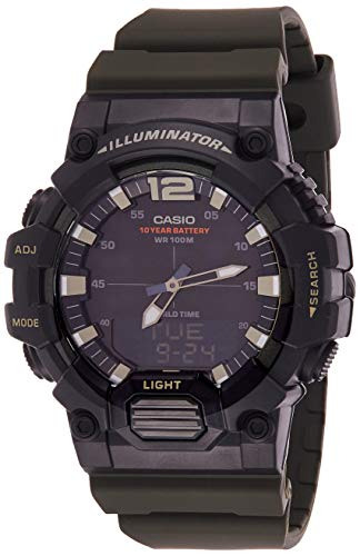 Casio Men's Dial Resin Band Watch - HDC-700-3AVDF