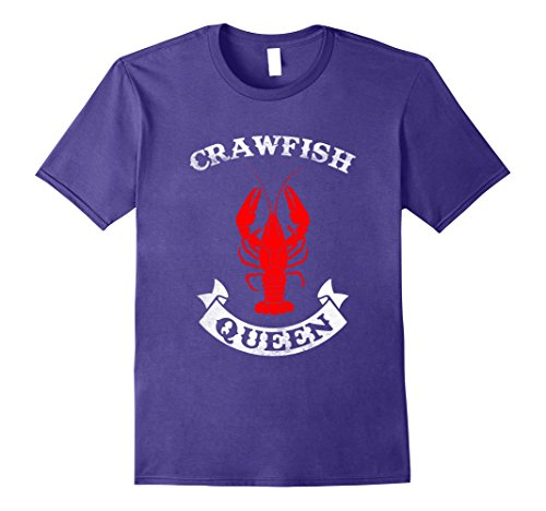 [Men's Crawfish Queen T Shirt - Crawfish Boil Party Festival Shirt Large Purple] (Beer Koozie Costume)