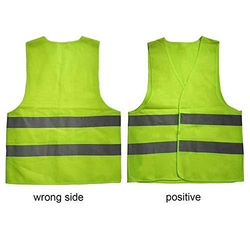 V/élo XL Jaune Avertissement Gilet r/éfl/échissant V/êtements de Travail Haute visibilit/é Jour Nuit Gilet de Protection pour la s/écurit/é routi/ère