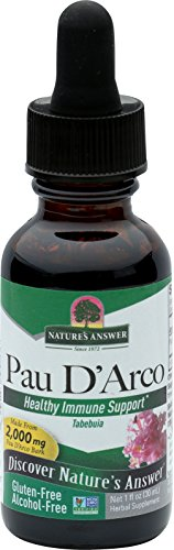Nature's Answer Alcohol-Free Pau D'Arco Inner Bark, 1-Fluid Ounce (Best Pau D Arco Tea)