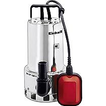 Einhell GC-DP 1020 N - Bomba de aguas sucias, asa de transporte, caudal 18000 l/h, 1000 W, 230 V, color rojo y negro