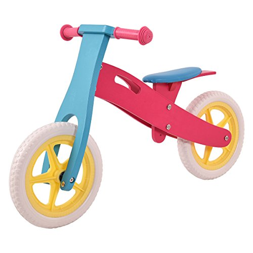 Wooden Balance Bike No-Pedal Adjustable Seat Classic