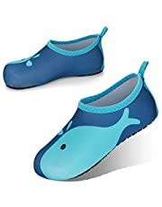 JOTO Water Shoes for Kids, Children Barefoot Quick-Dry Aqua Water Socks Slip-on Swim Beach Shoes for Girls and Boys Toddler