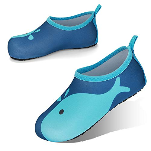 JOTO Water Shoes Beach Socks for Kids Toddler Baby Girls Boys, Barefoot Quick-Dry Non-Slip Swim Socks Aqua Water Shoes for Beach Swimming Pool Water Park
