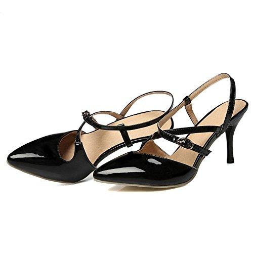 Strap Slingback Black Femmes Sandales Zanpa Mode W7x0w8aqEa