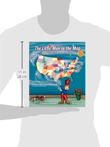 The Little Man In The Map With Clues To Remember All States E - Bootman us map