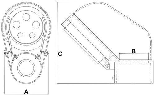 Morris 15541 Service Entrance Cap, Slip Fitter Mast Head, Aluminum,  2-1/2'' Conduit Size 1-1/4'' Insulator Cap Size