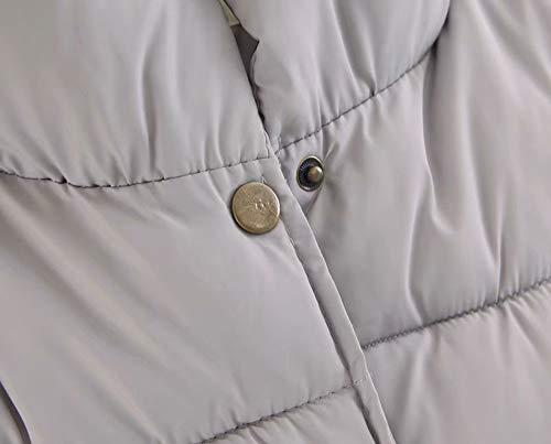 Lâche Montant Sans Extérieure Gilet Liubity Unie Grande Légère Taille Vers Poches Couleur Manteau Bouton Bas Col Pas Cher Manches Sauvage Gris Veste Mode tqqOx8RE