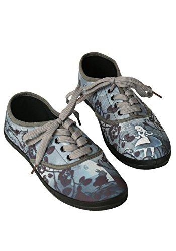 Disney womens Alice In Wonderland Womens Lace Up Sneaker Size 7