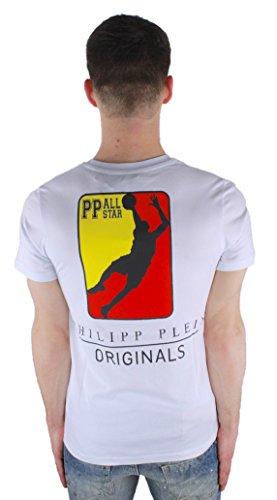 Philipp Plein Opera MTK0326 01 White Herren T-Shirt wei