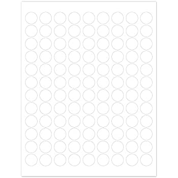 "Amazon.Com : 1-1/4"" White Round Labels For Laser & Inkjet Printers"