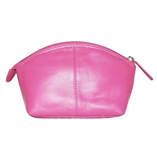 - ili New York 6480 Leather Cosmetic Makeup Case (Hot Pink)