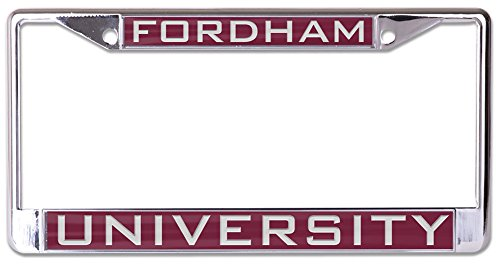 NCAA Fordham Rams Inlaid Metal License Plate Frame, 2-Tag Corners by WinCraft