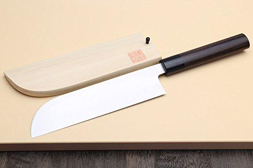 Yoshihiro Shiroko High Carbon Steel Kasumi Kama Usuba Japanese Vegetable Chef's Knife 7inch(180mm) with Shitan Handle by Yoshihiro (Image #2)