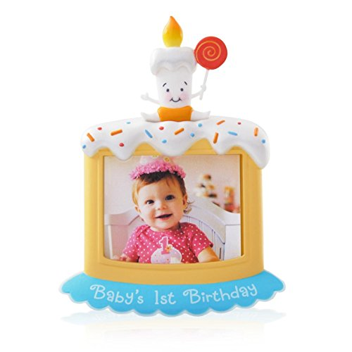 Hallmark Photo Holder (1 X Baby's First Birthday Photo Holder - 2014 Hallmark Keepsake Ornament)