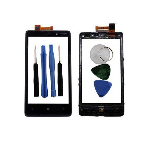 BisLinks® Digitizer Touch Screen Front Glass Lens + Free Tools For Nokia Lumia 820
