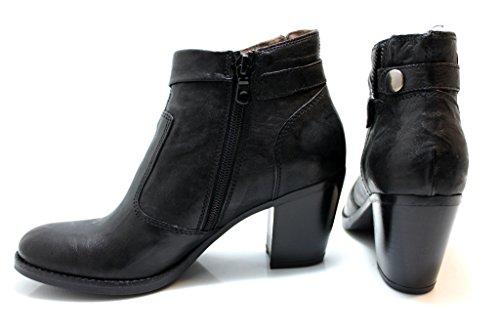 Nero Giardini A513345 Negro Botas en Los Tobillos Plateau Con Diseño de Mujer negro