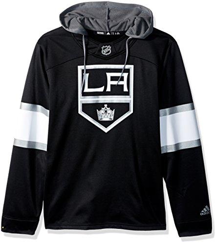 fan products of NHL Los Angeles Kings Mens Silver Jersey Hoodsilver Jersey Hood, Black, Large