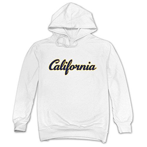 Men California Blue And Gold Bear Hoodies White 100% Cotton