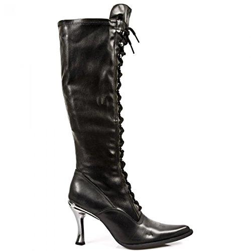 New Rock Laarzen M.9053-c1 Gothic Hardrock Punk Damen Stiefel Schwarz