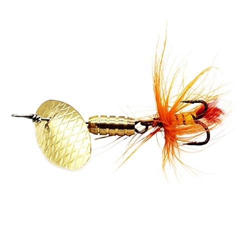 Jokereader LUSHAZER Sequin Spoon Spinner Feather Crankbait Perch Fishing Lures (4g)