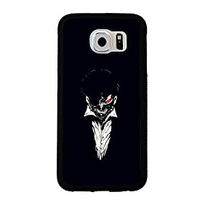 Unique Design(TM) Samsung Galaxy s6 Case Cover Mate Disney Cartoon Anime Comics Character Tokyo ghouls Hard Tpu Slim Fit Rubber Custom Black Protective Accessories for Girls