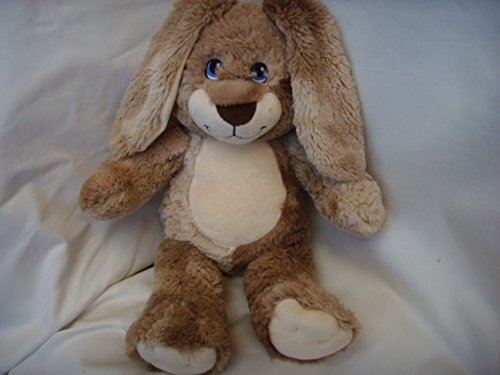 - Build a Bear Workshop Easter Bunny Rabbit Tan Cream Brown Nose Blue Eyes large 18
