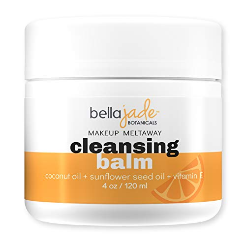 Cleansing Balm Makeup Remover for Face – Natural Vegan Facial Cleanser with Coconut Oil and Vitamin E to Gently Cleanse…