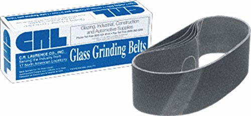 CRL 3″ x 21″ 120 Grit Portable Glass Grinding Belts by CR Laurence For Sale