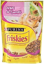 Ração para Gatos Friskies Adulto Mix de Carne ao Molho - 85g Purina para Todas Todos os tamanhos de raça Todas
