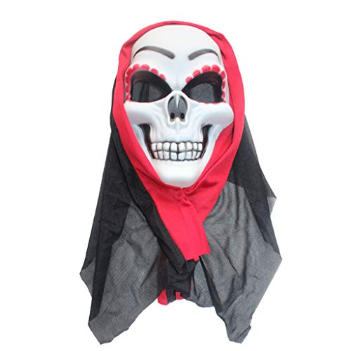 (Masks Red Skull Halloween Cosplay Halloween Couple, find Your Partner Soon Dress Up & Pretend Play (Color : Red, Size :)