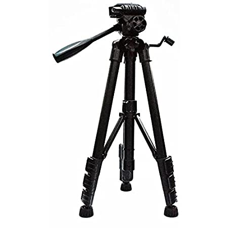 Eloies® Simpex Long Lightweight Professional VCT 690RM Aluminium 57 inches Tripod for DSLR Camera Gopro Action Digital Cameras Fordable Travel Tripod