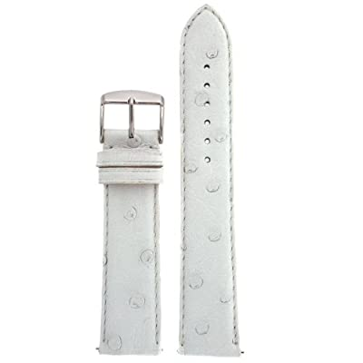 Watch Band Genuine Ostrich White Quick Release Ladies 14 millimeter from Tech Swiss