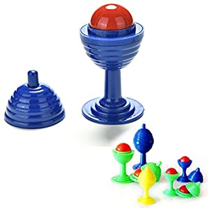 Crqes 1 Set Magic Cup Bead Come Cup Close Up Street Magic Trick Kids Children Toys Random Color