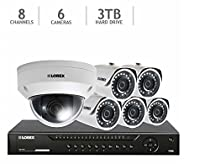 Lorex 8 channel HD IP NVR with 3TB HDD, 5 4MP Bullet Cameras and 1080p PTZ Camera