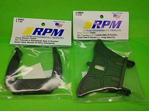 RPM 2 Pack Front + Rear Shock Tower TRAXXAS 2WD Stampede rustler Slash Bandit 80832 80852 - Front Shock Tower