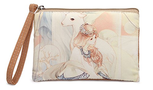 Fairy Purse (Crest Design Cute Canvas Smartphone Wristlets Bag Clutch Wallets Purses for iPhone 6 / 6S / 7 (Bisque Fairy))
