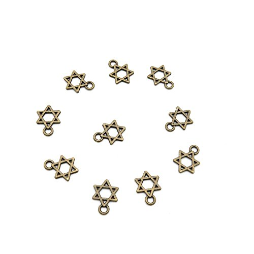 30 PCS Ancient Antique Bronze Fashion Jewelry Making Crafting Charms Findings Bulk for Bracelet Necklace Pendant Retro Accessoires Lots Vintage 920184 Star of - Charms Star Findings
