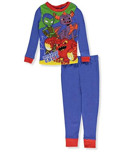 Skylander Little Boys' 2-Piece Cotton Pajama Set, Blue, 6 (Magna Playstation 2)